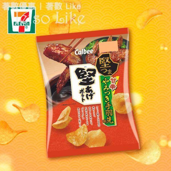 7-Eleven 日本直送 卡樂B堅薯片 日式秘製醬汁雞翼味